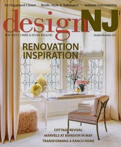 Casart Coverings temporary wallpaper in DesignNJ magazine