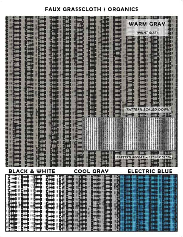 Faux Grasscloth Sample Composite_Casart Coverings removable wallpaper