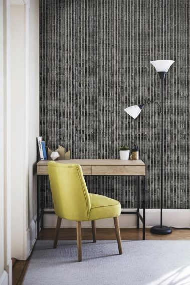 Casart Coverings Warm-Gray_Grasscloth_Room with removable wallapaper