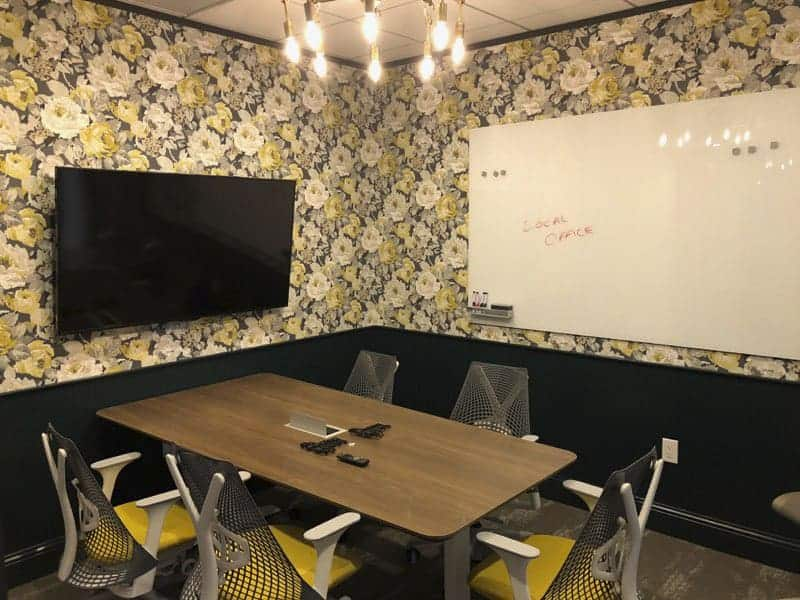 Atira wallpaper used in the small conference room