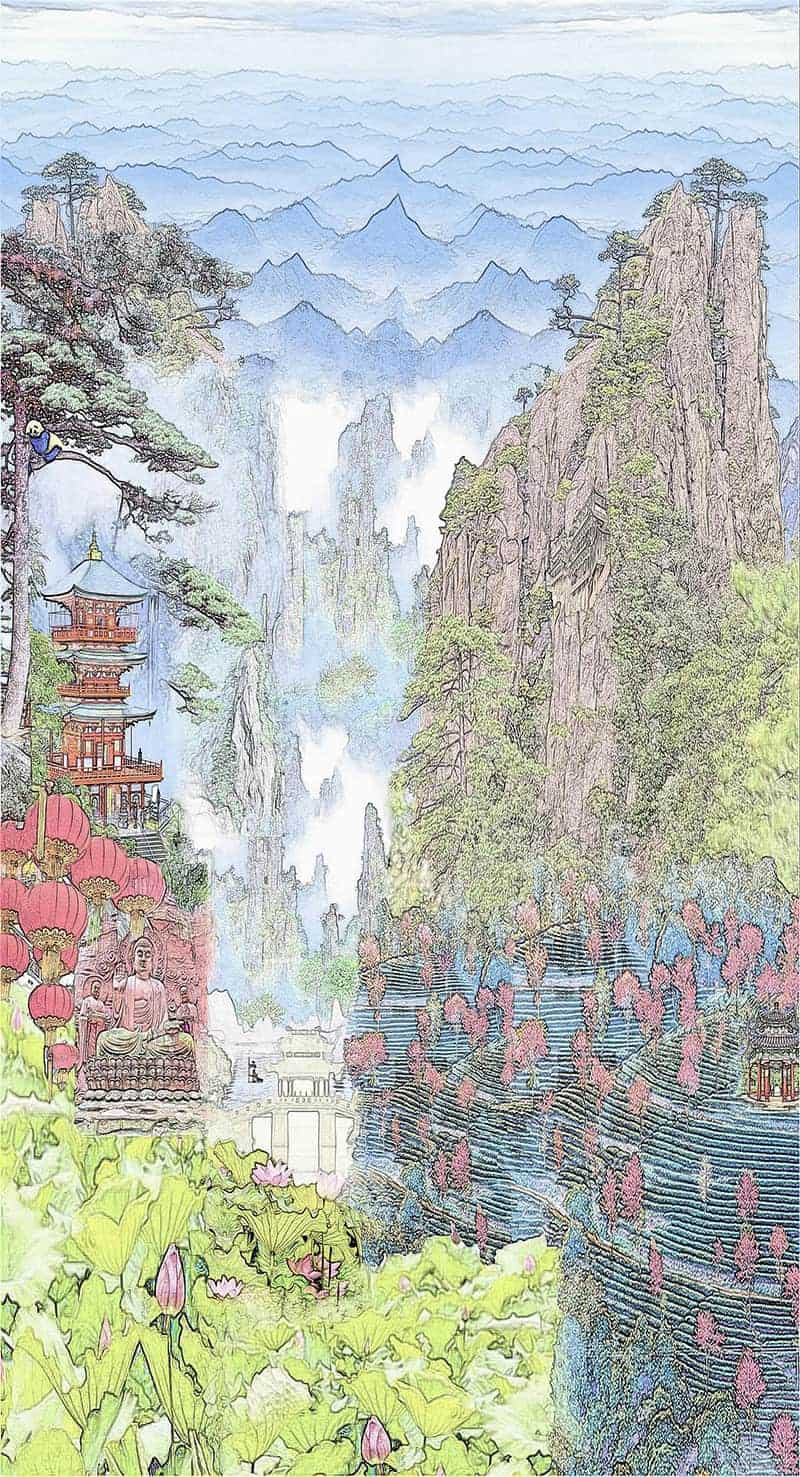 Casart Coverings China Colored Mural temporary wallpaper