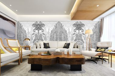Casart Coverings custom printed China etching mural panels installed