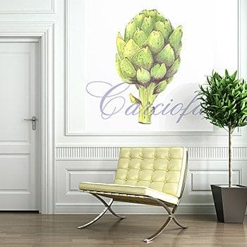 Casart Artichoke reusable wallpaper feature wall hotel lobby