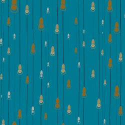 Casart Coverings Light Rain Pattern Party Nights colorway removable temporary wallpaper