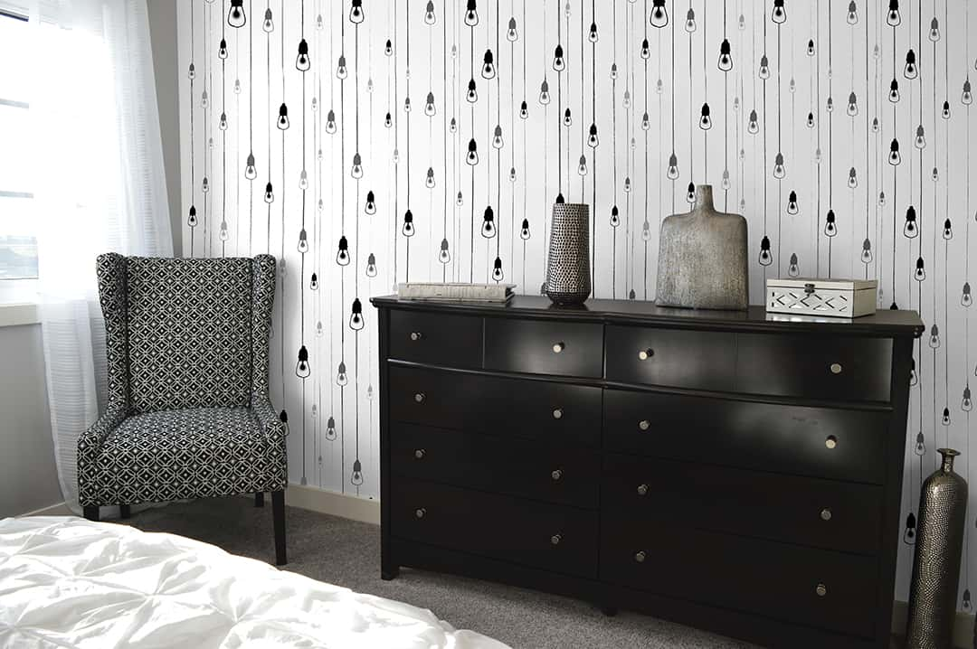 Casart Covering Black and White Light Rain removable wallpaper dresses up any interior