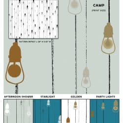 Casart Coverings Light Rain pattern removable and reusable temporary wallpaper in multiple colorways