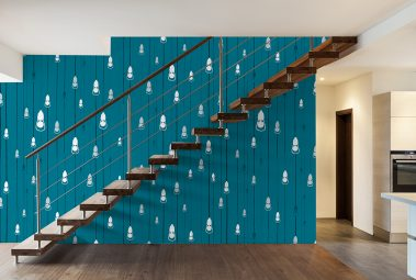 Casart removable wallpaper Let your Lights Rain Down in between floors in your room