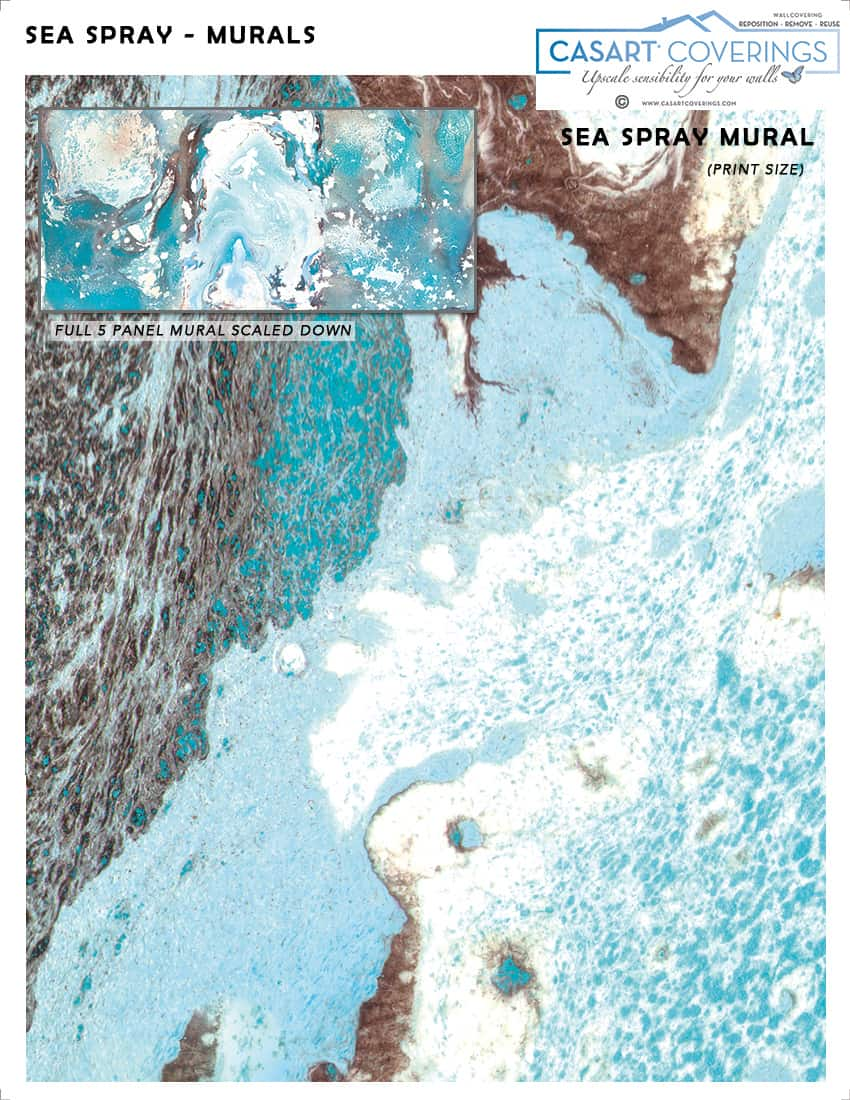 Casart Coverings Sea Spray Mural Sample removable wallpaper