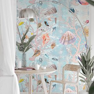 Casart Coverings Shells removable wallpaper Product feature image
