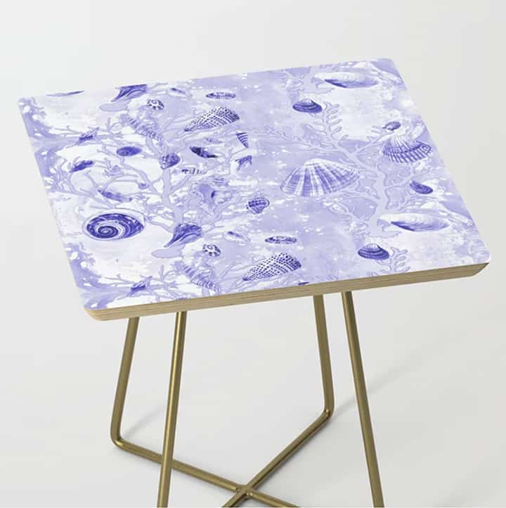 Casart Side Table Shells Deep Blue Furniture Accessory