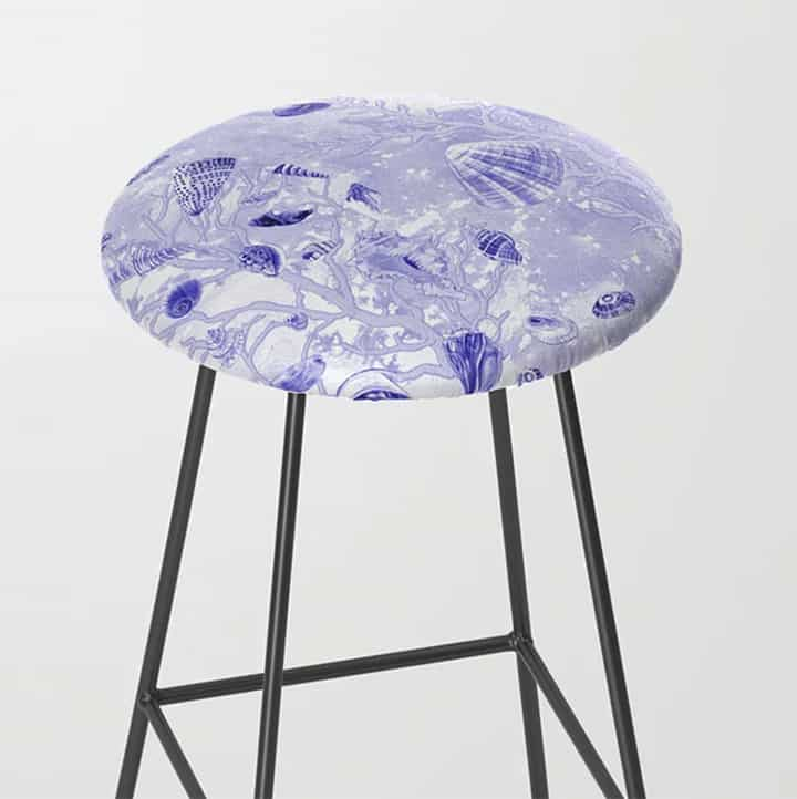 Casart Stool Shells Deep Blue Furniture Accessory