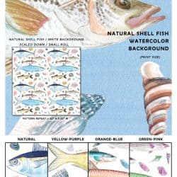 Casart Coverings Shell Fish Sample Composite removable wallpaper