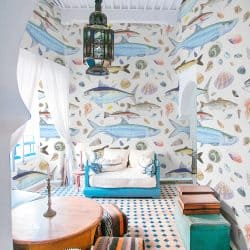 Casart Coverings Shell Fish removable wallpaper feature
