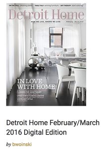 Casart Coverings featured in Detroit Home Feb-March 2016 press