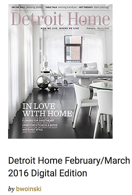 Casart Coverings featured in Detroit Home March-Feb 2016 press