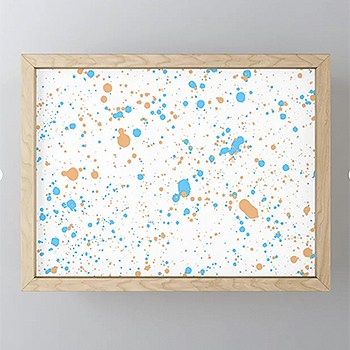 Casart Framed Artwork Orange Blue Splatter_Casart Accessories_Society 6 Shop