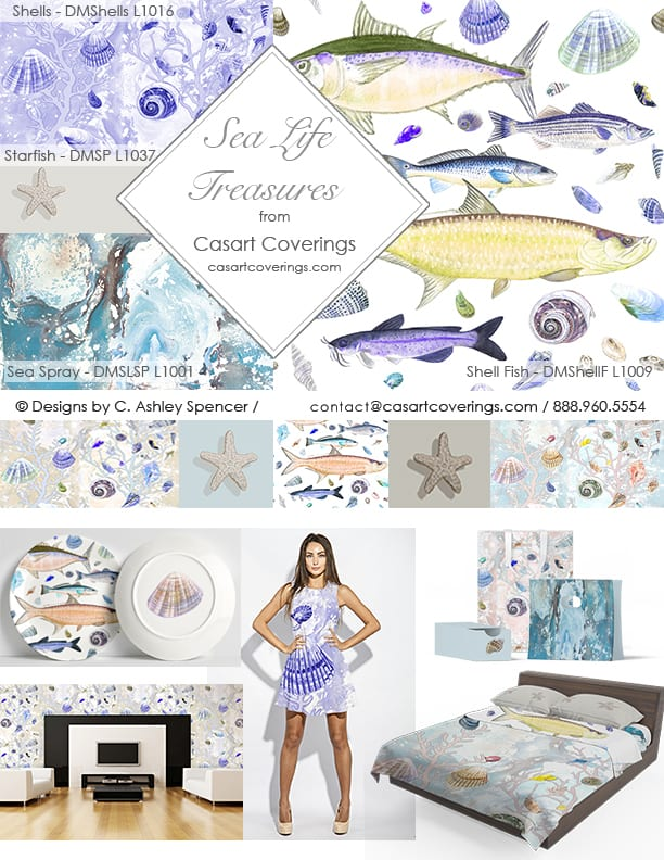 Casart Coverings Sea Life Treasures Decor Accessory Collection