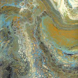 Casart Coverings Wave 2 Mural Paint Pour removable wallpaper artwork