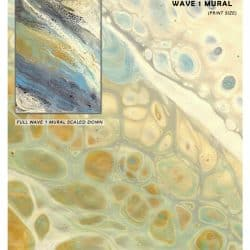 Casart Coverings Wave 1 Mural removable wallpaper_sample