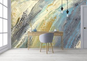 Casart Coverings removable wallpaper Wave 1 Mural in Office Room