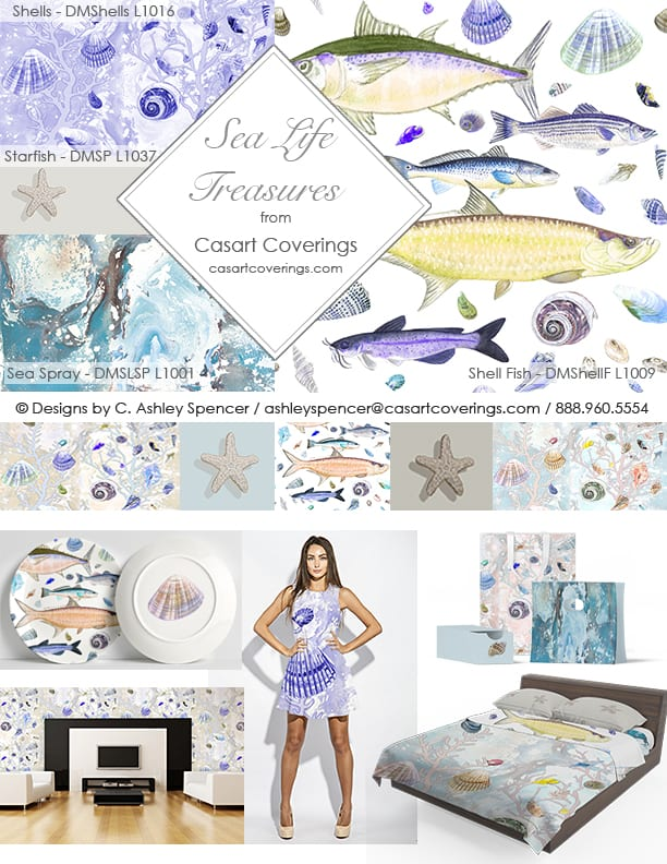 Casart Sea Life Treasures Licensing Collection