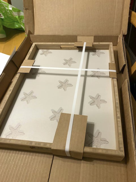 Customer Casart Tray shipped with packaging