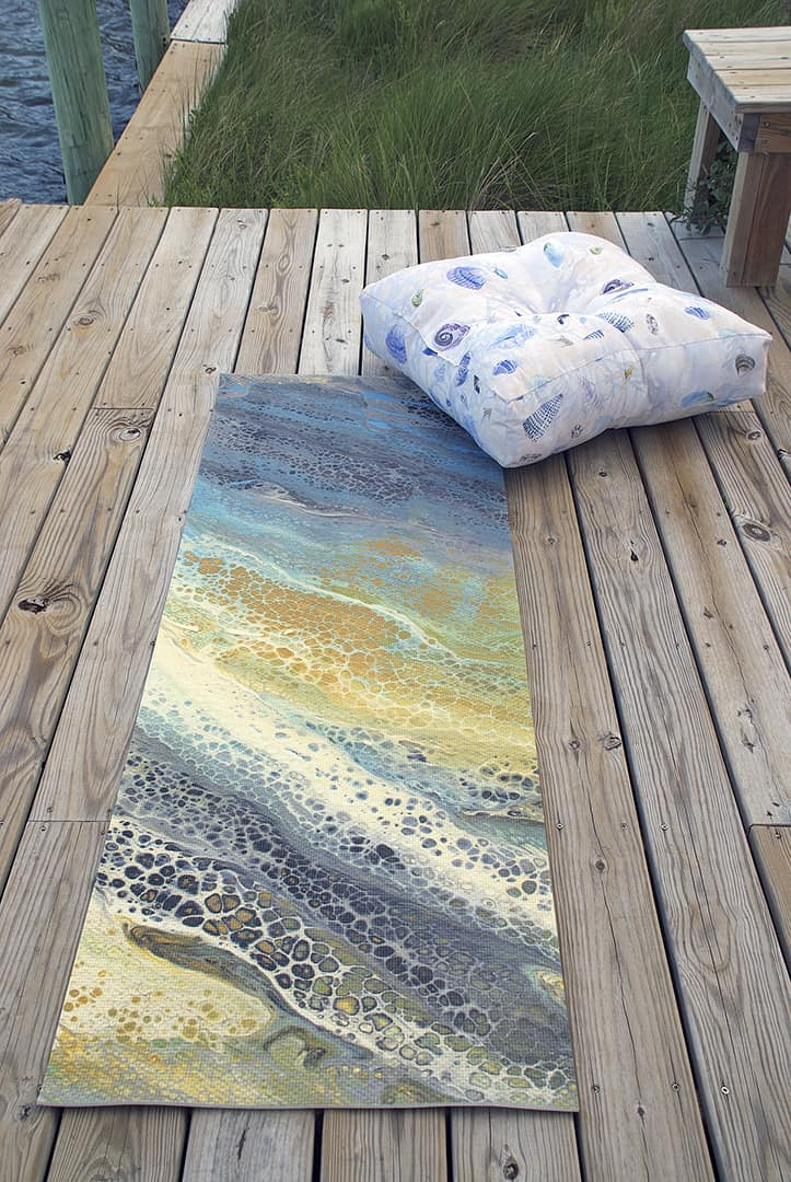 Casart Shells Pillow and Wave 1 Yoga Mat