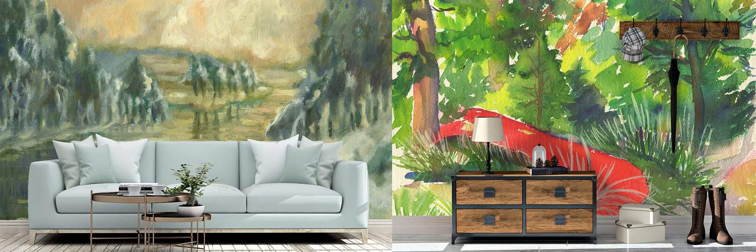 Enjoy the Outdoors with Nostalgic Murals Inside
