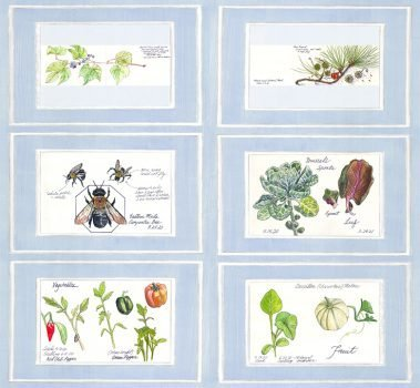 Casart Nature Noticed Panel 1 Bookcase Backing 1 removable wallpaper