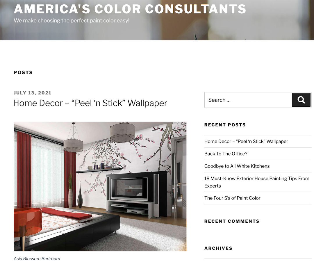 Casart Coverings Press on Americas Color Consultants
