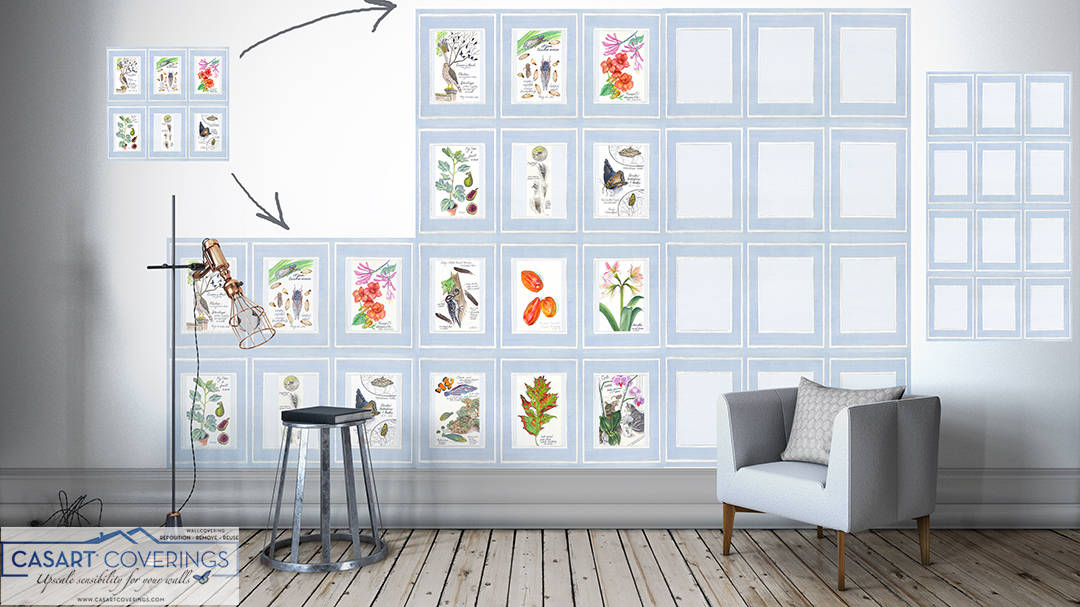 Casart Coverings the many ways to install Nature Noticed 2 Vertical Panels removable wallpaper gallery wall